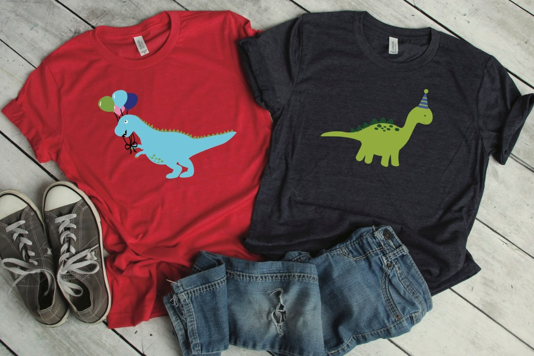 Dinosaur Party Shirts