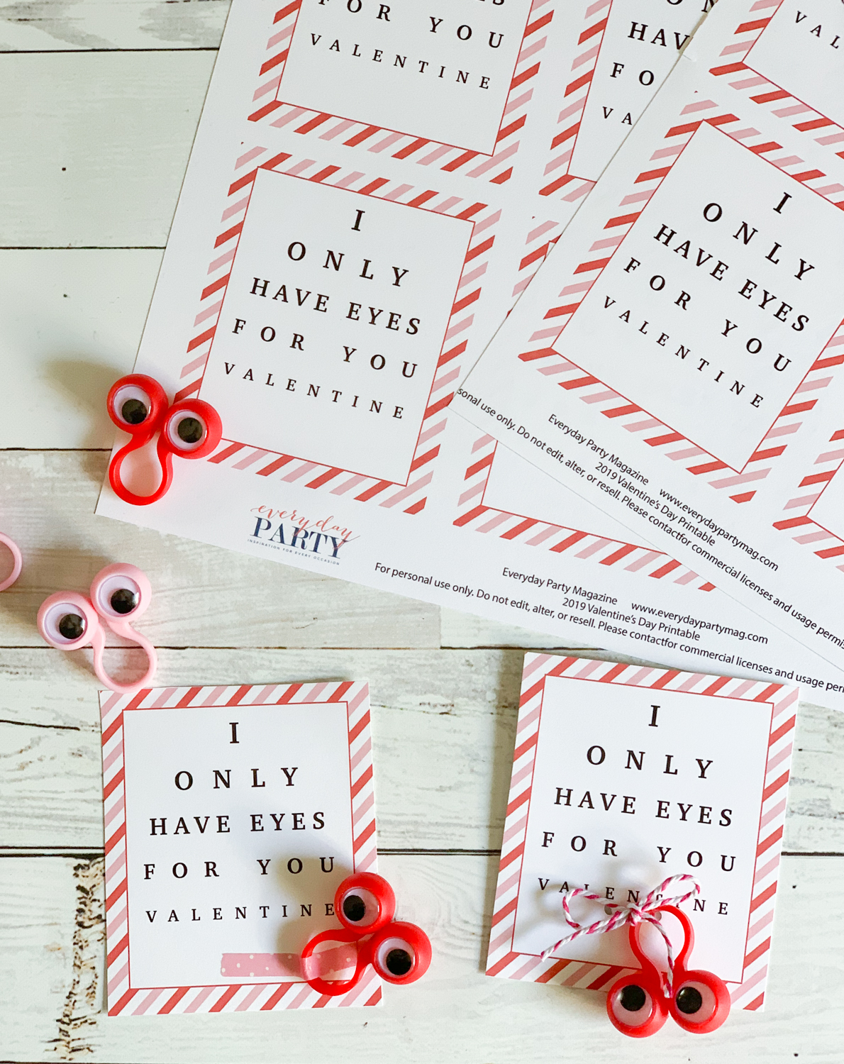 photo about Printable Googly Eyes identified as I Basically Contain Eyes For Yourself Printable Valentines Working day Playing cards