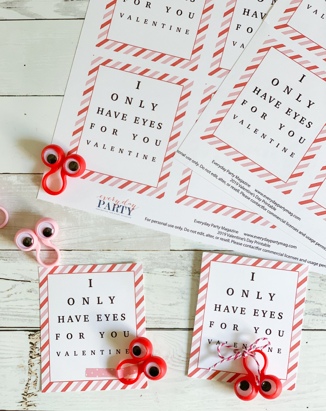Kids Valentine's Day Cards Googly Eyes