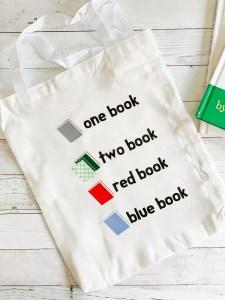 Library Book Tote Bag