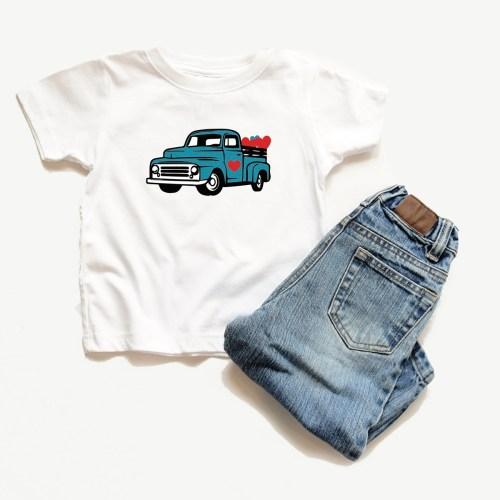 Vintage Truck Valentine's Day Shirt