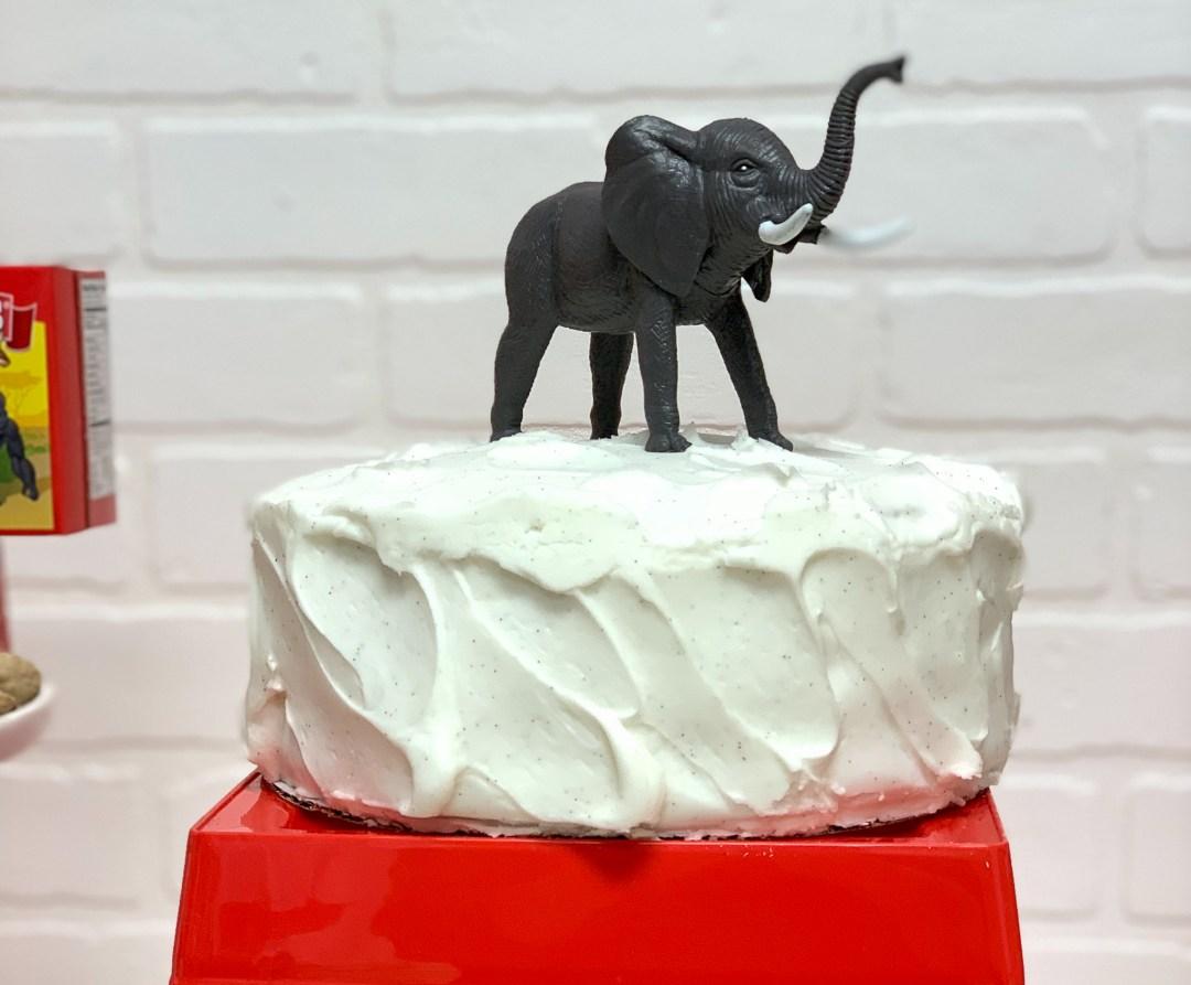 Circus Party Cake Toy Elephant