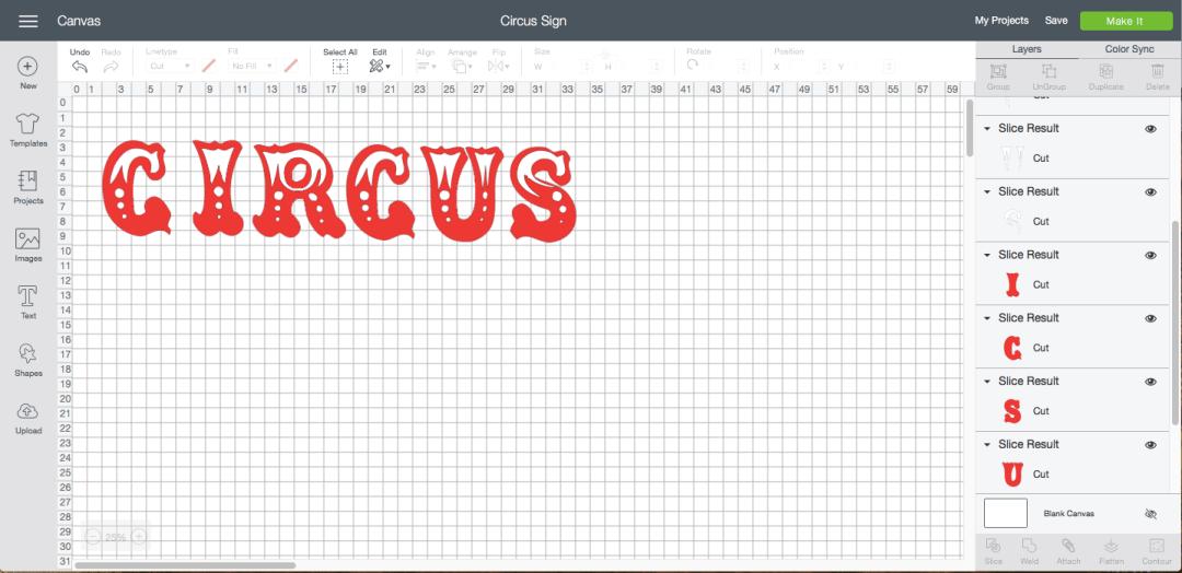 Cricut Design Space Image Circus