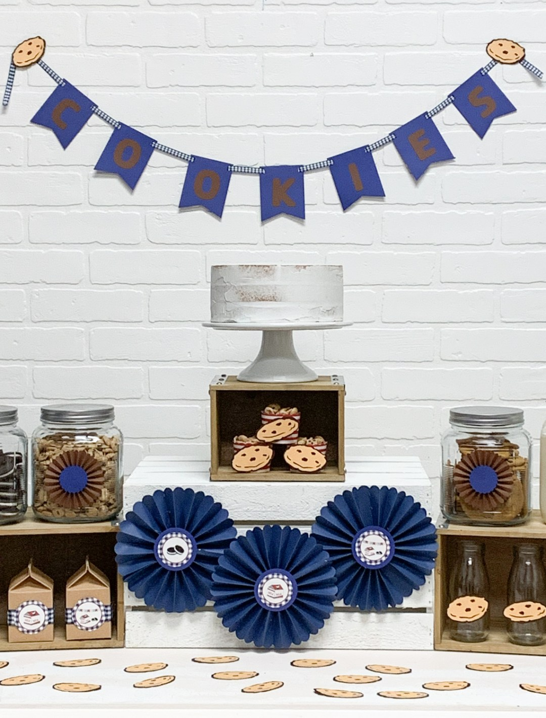 Milk and Cookie Party Dessert Table