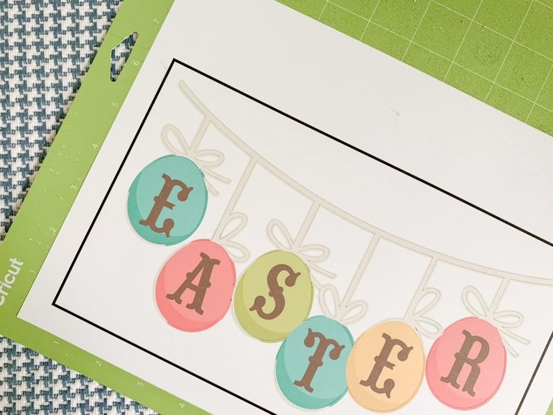 Cricut Print Then Cut Easter Banner