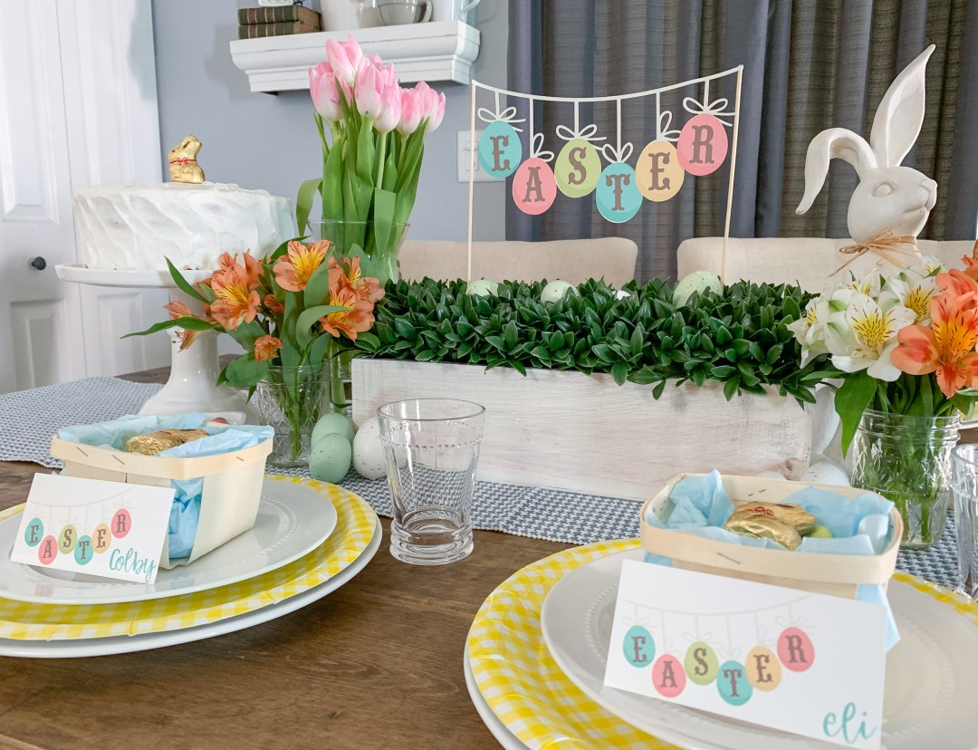 Farmhouse Easter Table