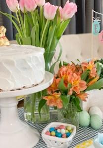Cake Fresh Flowers Easter Eggs