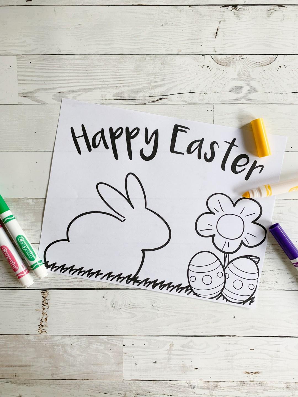 Rabbit Coloring Sheet Markers