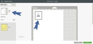 Cricut Design Space Image Cutting Mat Page