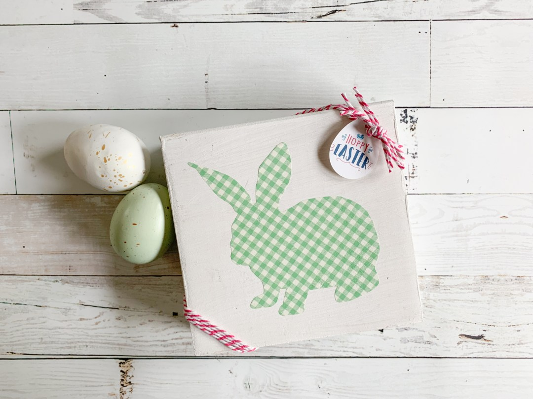Farmhouse Easter Decor Gingham Easter eggs