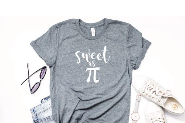 Sweet as Pi Shirt Grey Shirt Sunglasses Watch Sneakers