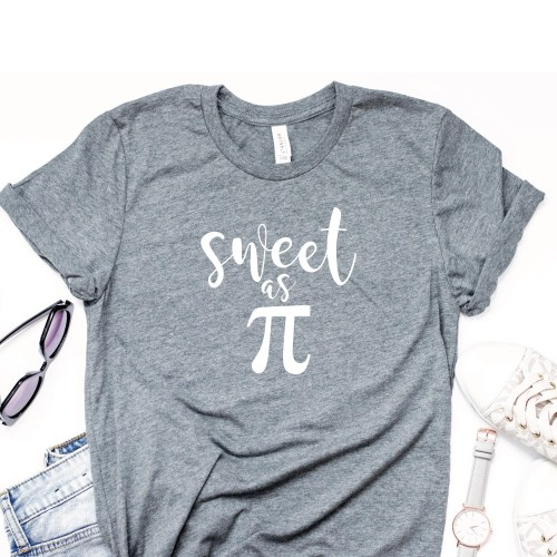 Sweet as Pi Shirt Grey Shirt Sunglasses Watch Sneakers