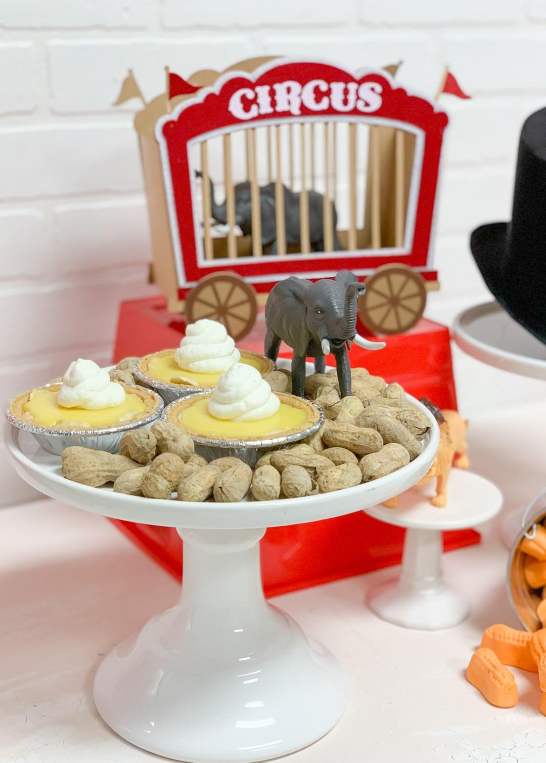 Banana Cream Pie Minis, Elephant, Peanuts, Circus Train