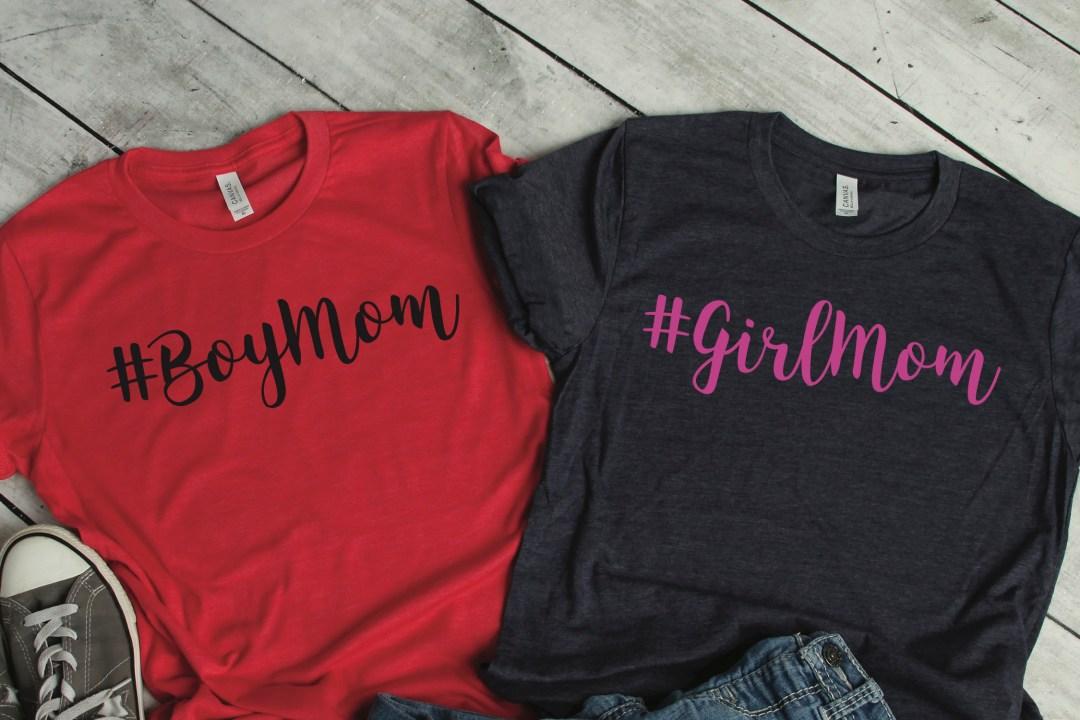 Boy Mom and Girl Mom Shirts