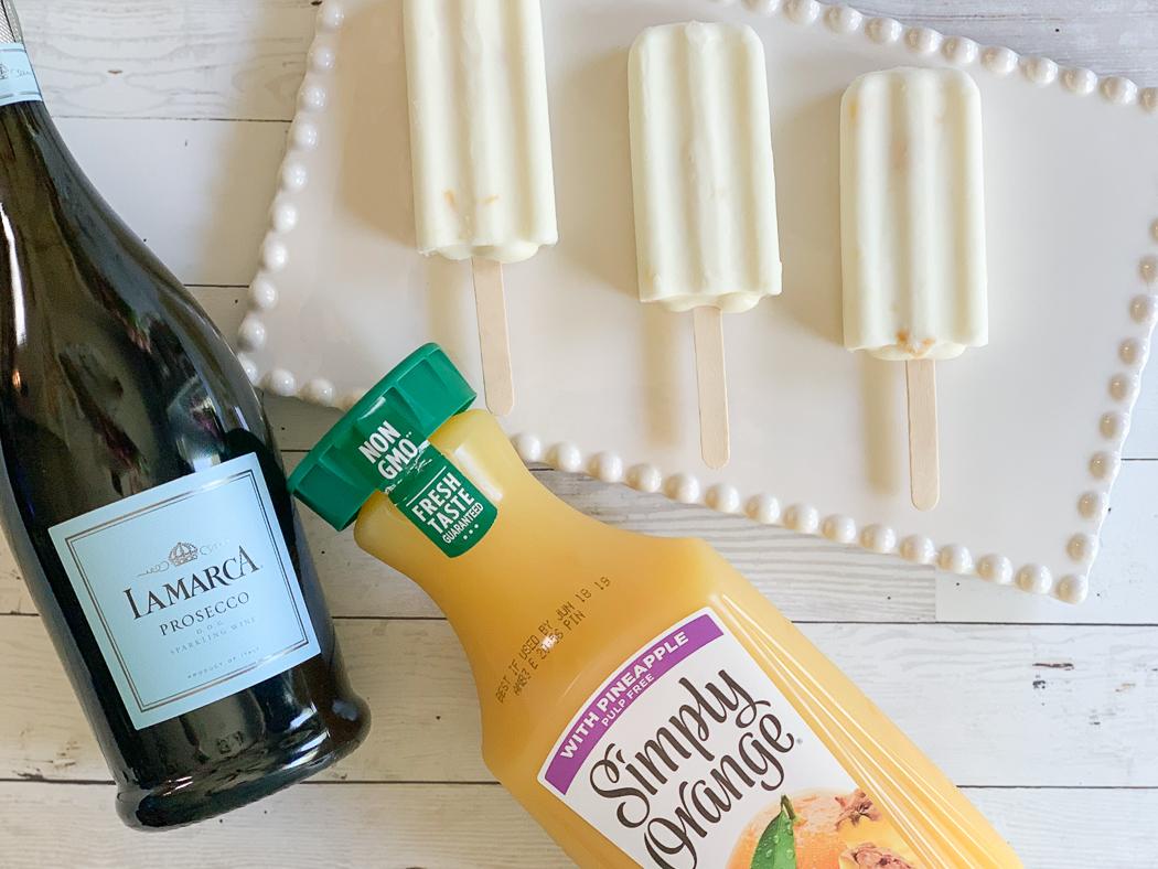 Simply Orange Pineapple Juice Sparkling Wine Popsicles