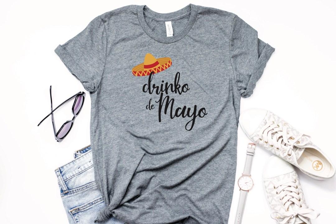 Drinko de Mayo t-shirt sunglasses jeans watch