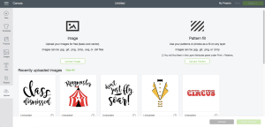 Cricut Design Space SVG Upload Screen Shot