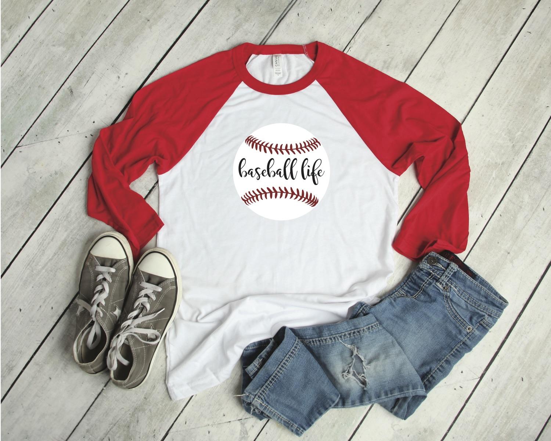 Baseball Life Raglan Shirt