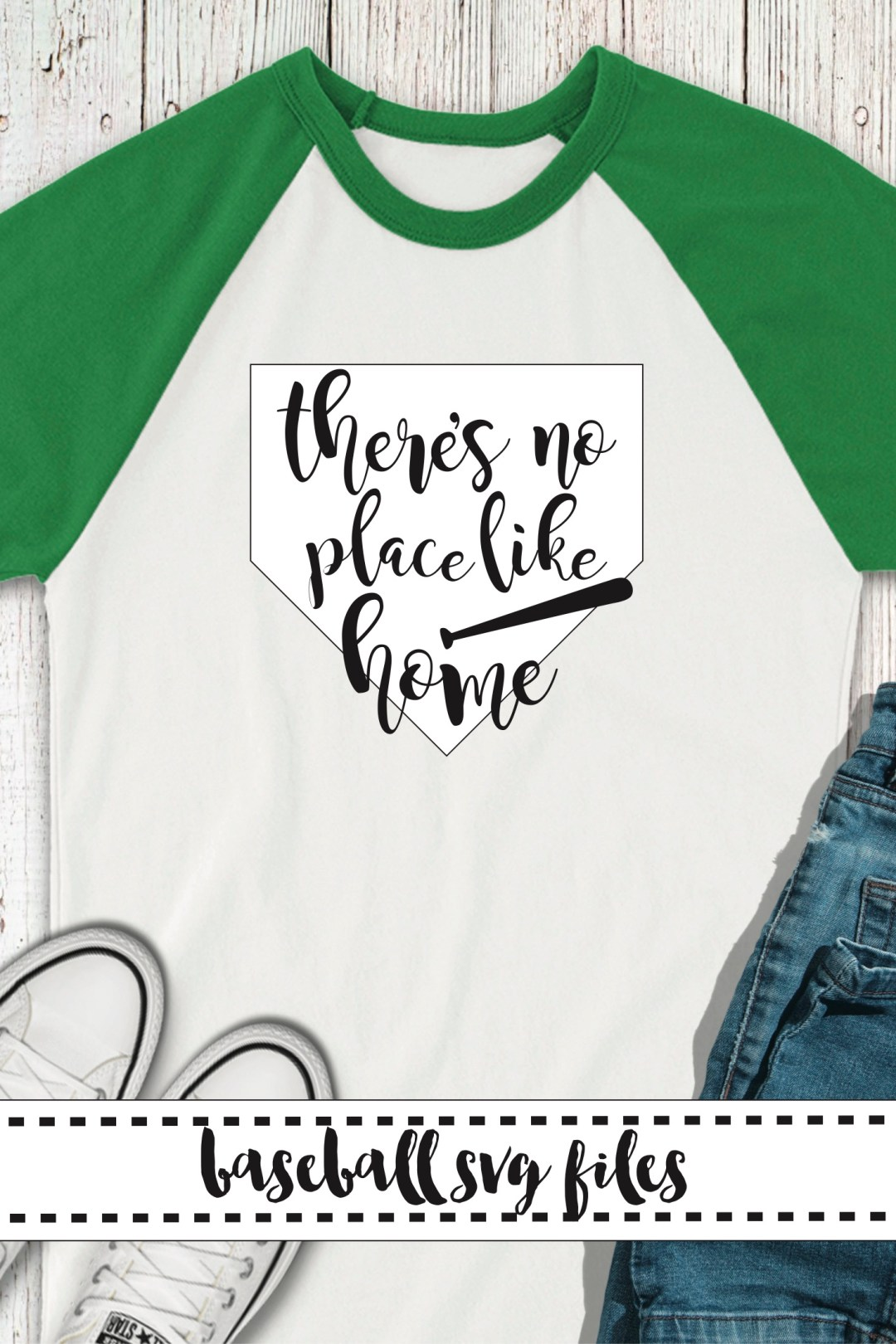 Green Baseball Raglan Shirt