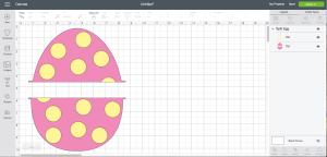 Cricut Design Space Screen Shot Easter egg Monogram