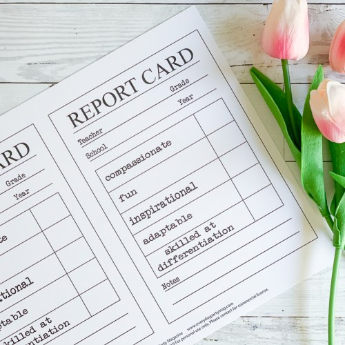 Report Cards Tulips