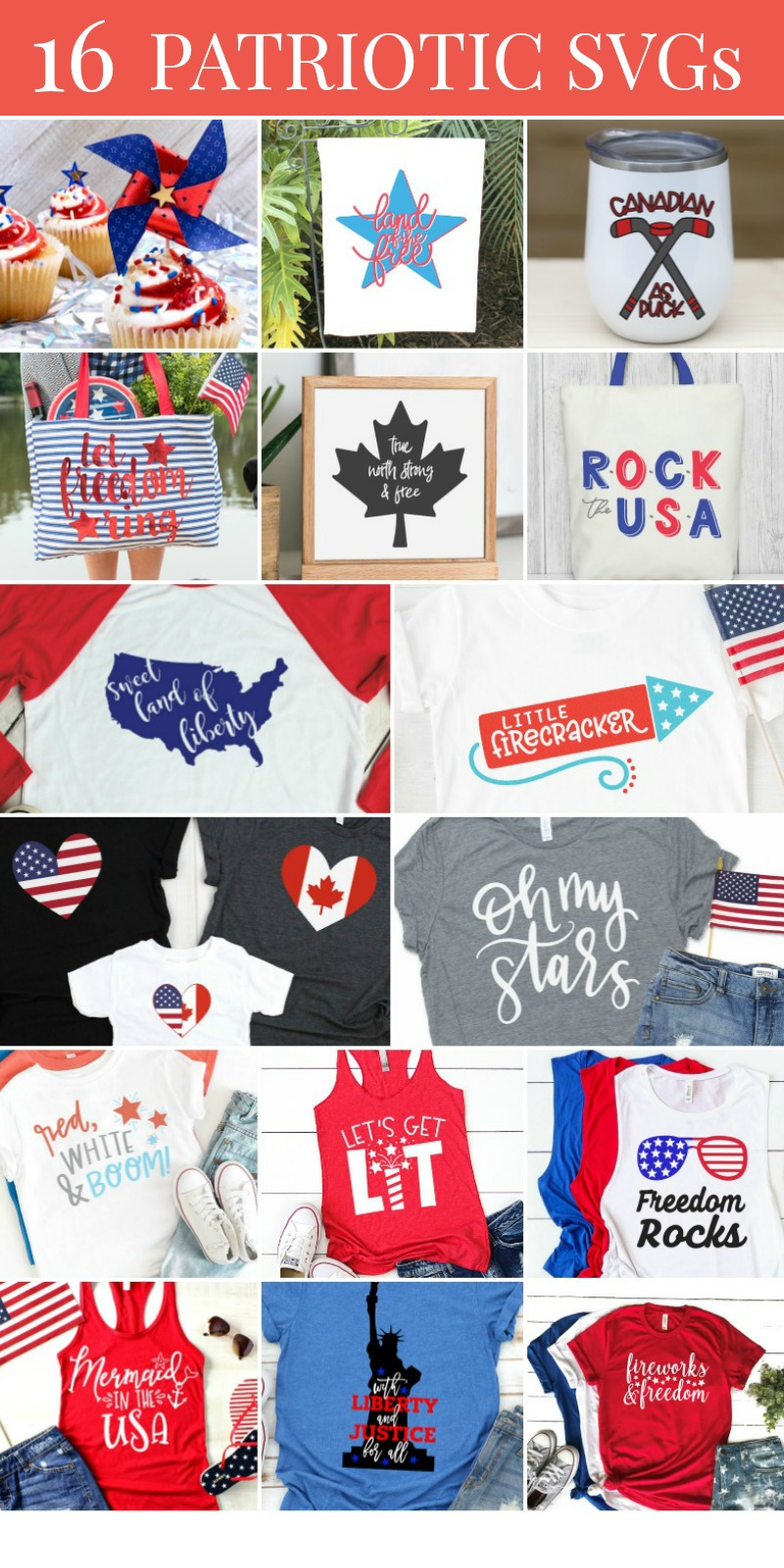 Patriotic SVG Collage