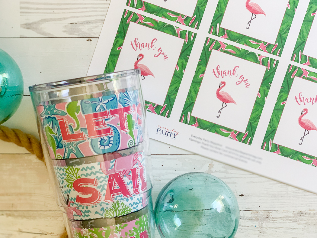 Tervis Tumbler Sea Glass Flamingo Note Cards