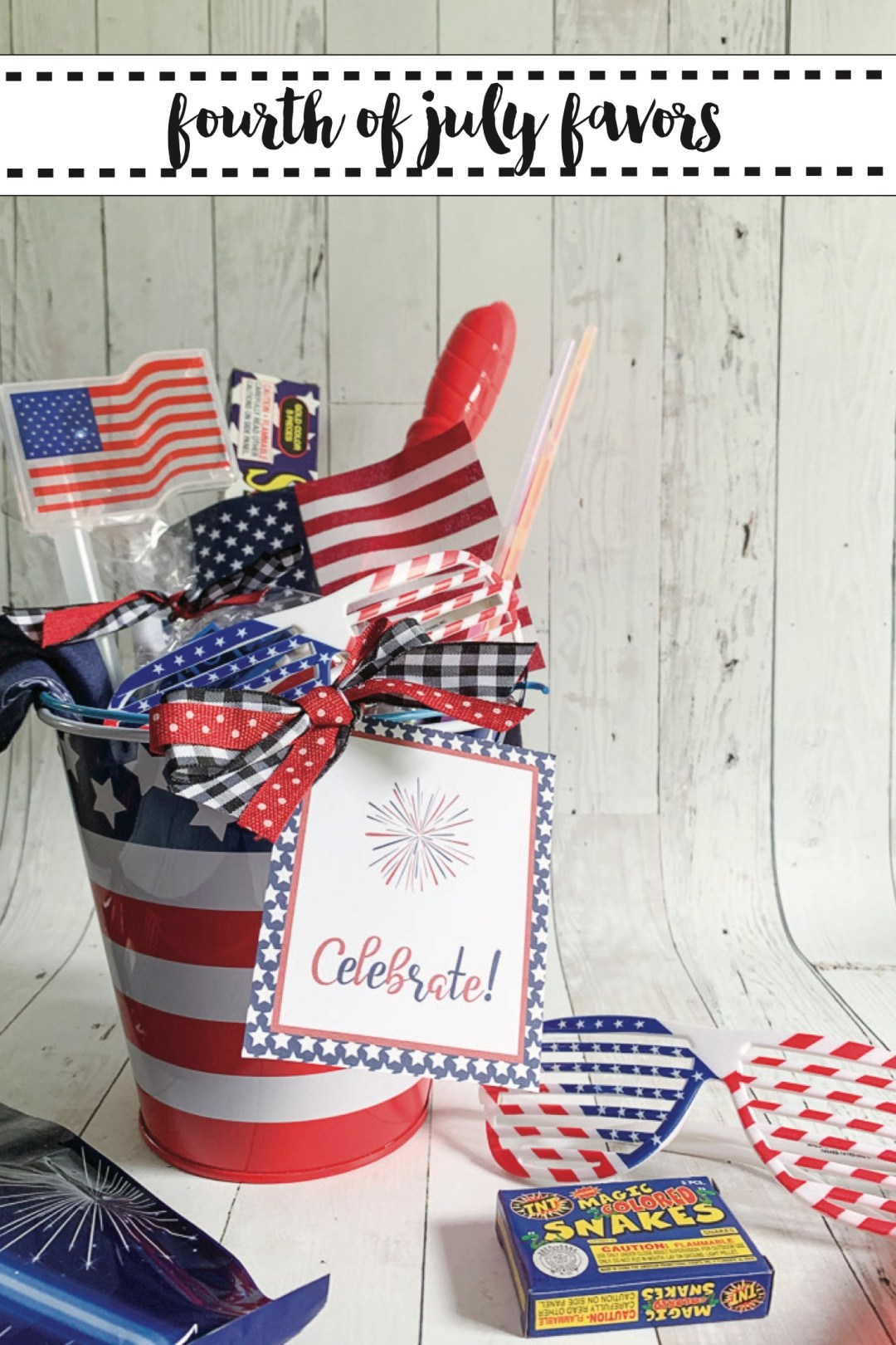 Fourth of July Party Favor Bucket