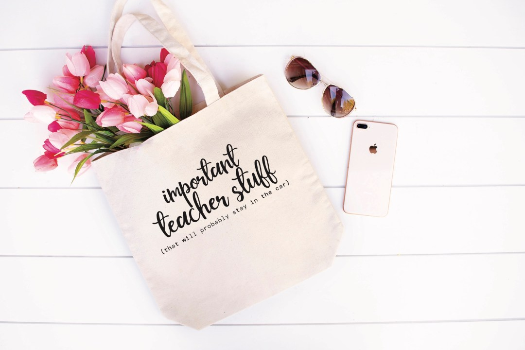 Teacher Tote Bag Tulips Sunglasses iPhone