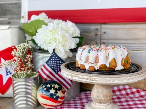 Cake Flowers Flag