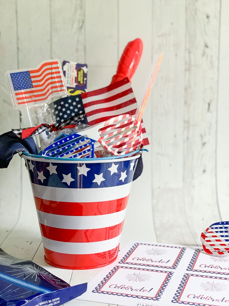 Patriotic Bucket Patriotic Party Favors