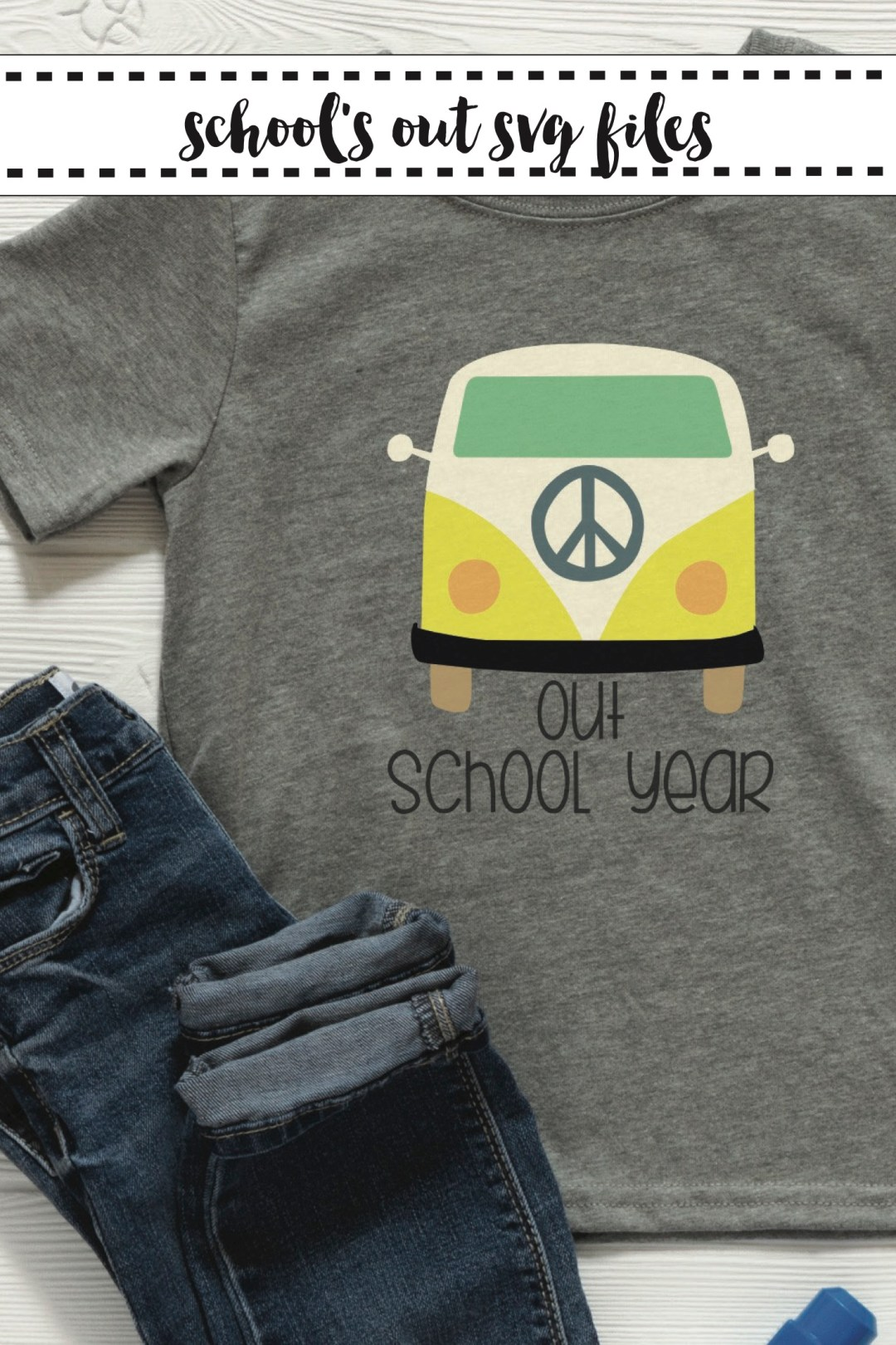 School Shirt VW Bus Jeans