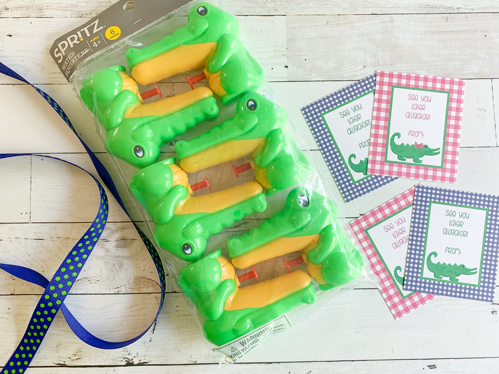 Ribbon Water Guns Printable Tags