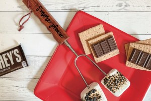 Roasted Marshmallows Chocolate Graham Crackers