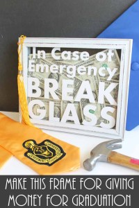 In Case of Emergency Break Glass Gift Frame