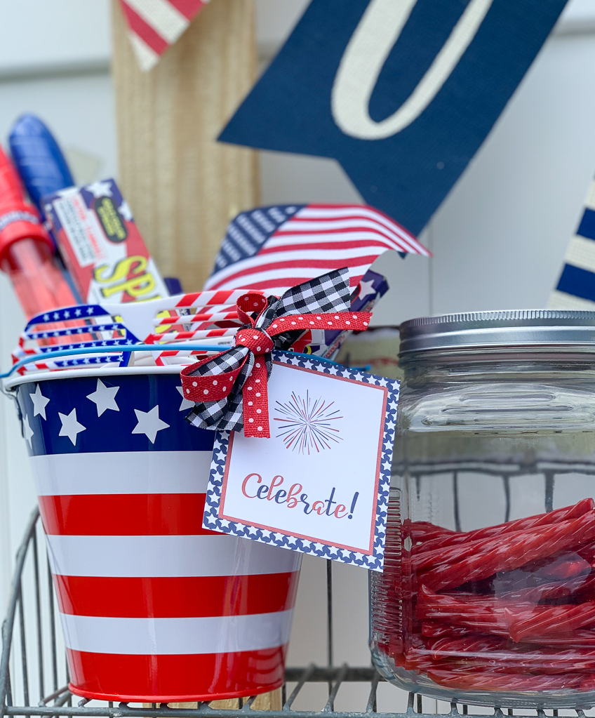Celebrate Fourth of July Bucket