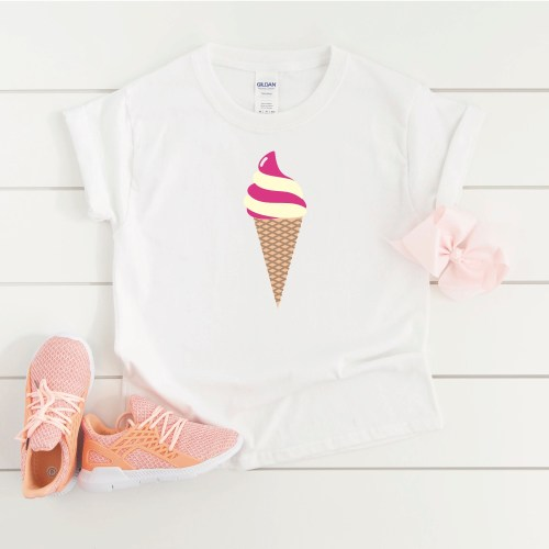 Little Girls Ice Cream Shirt