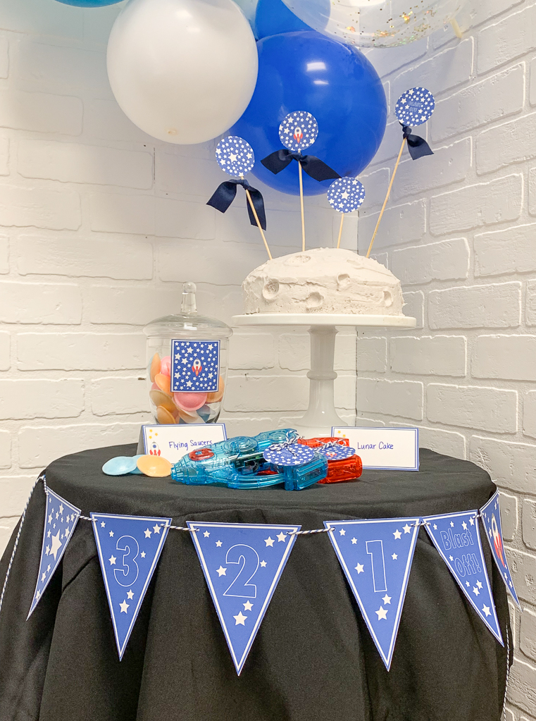 Space Themed Party Table