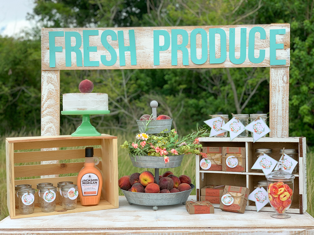 Fresh Produce Stand Shower Table