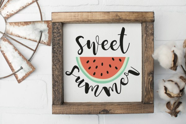 Sweet Summer Watermelon Farmhouse Sign
