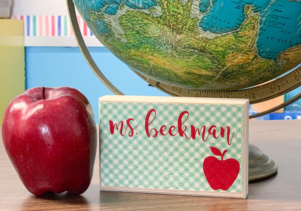 Teacher Name Plaque