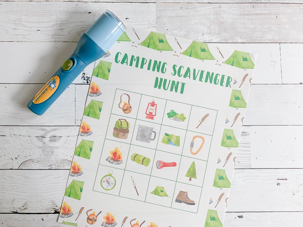 Scavenger Hunt Printable Flashlight
