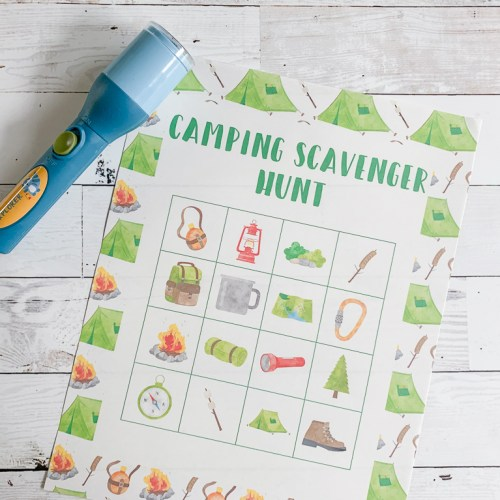 Scavenger Hunt Printable Flashlight