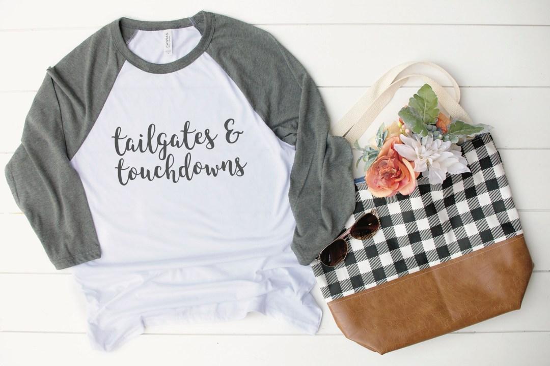 Tailgates and Touchdowns Raglan Shirt