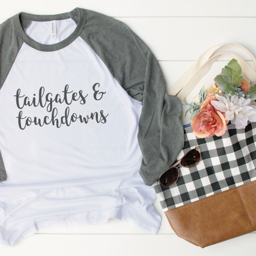 Tailgates and Touchdowns Raglan Shirt