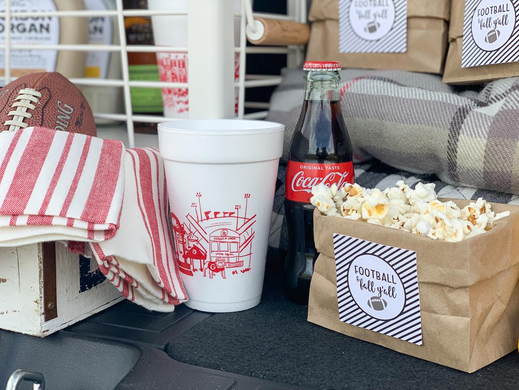 UGA Cups Popcorn