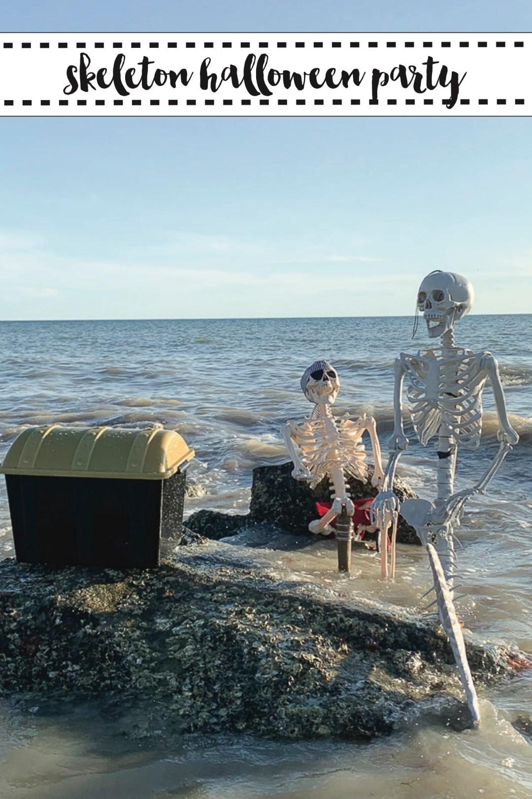 Mermaid and Pirate Skeletons