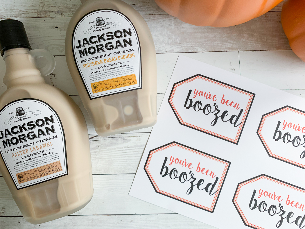 You've Been Boo'zed Printable Tags Jackson Morgan Southern Cream
