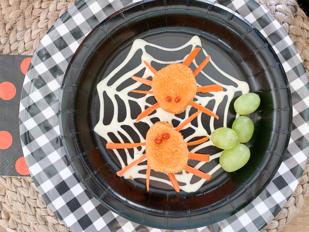 Spider Chicken Spider Web Plate