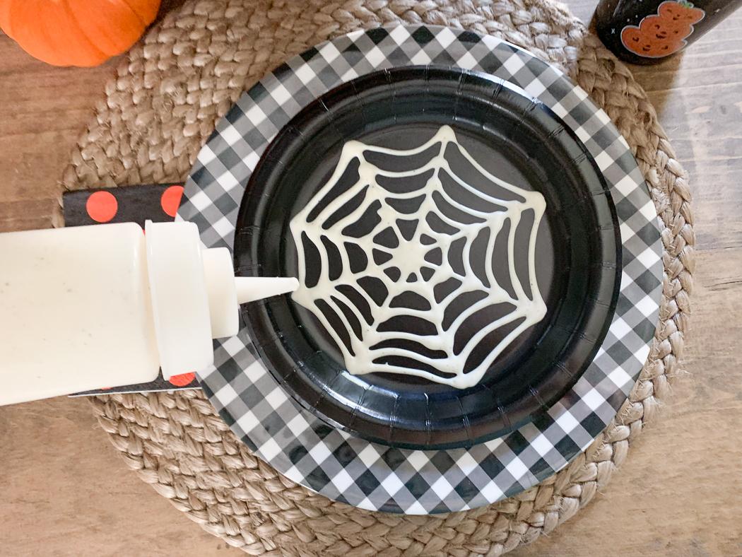 Spider Web Halloween Plate